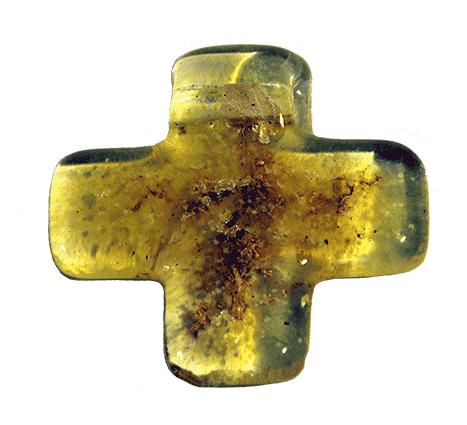 Kreuz Anhänger gelb