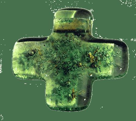 Kreuz Anhänger grün 1
