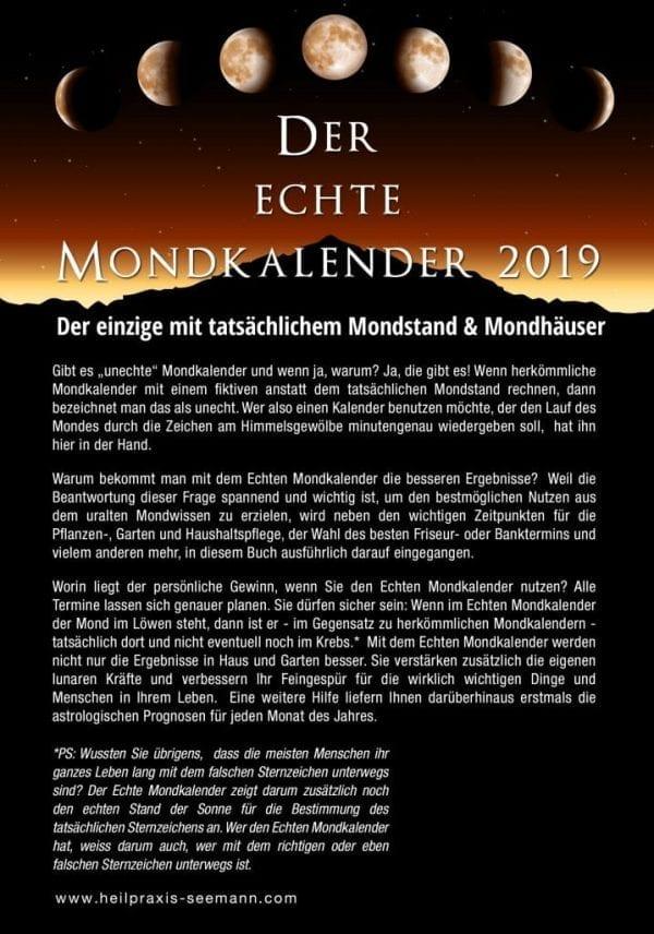 Der Echte Mondkalender 2019 1