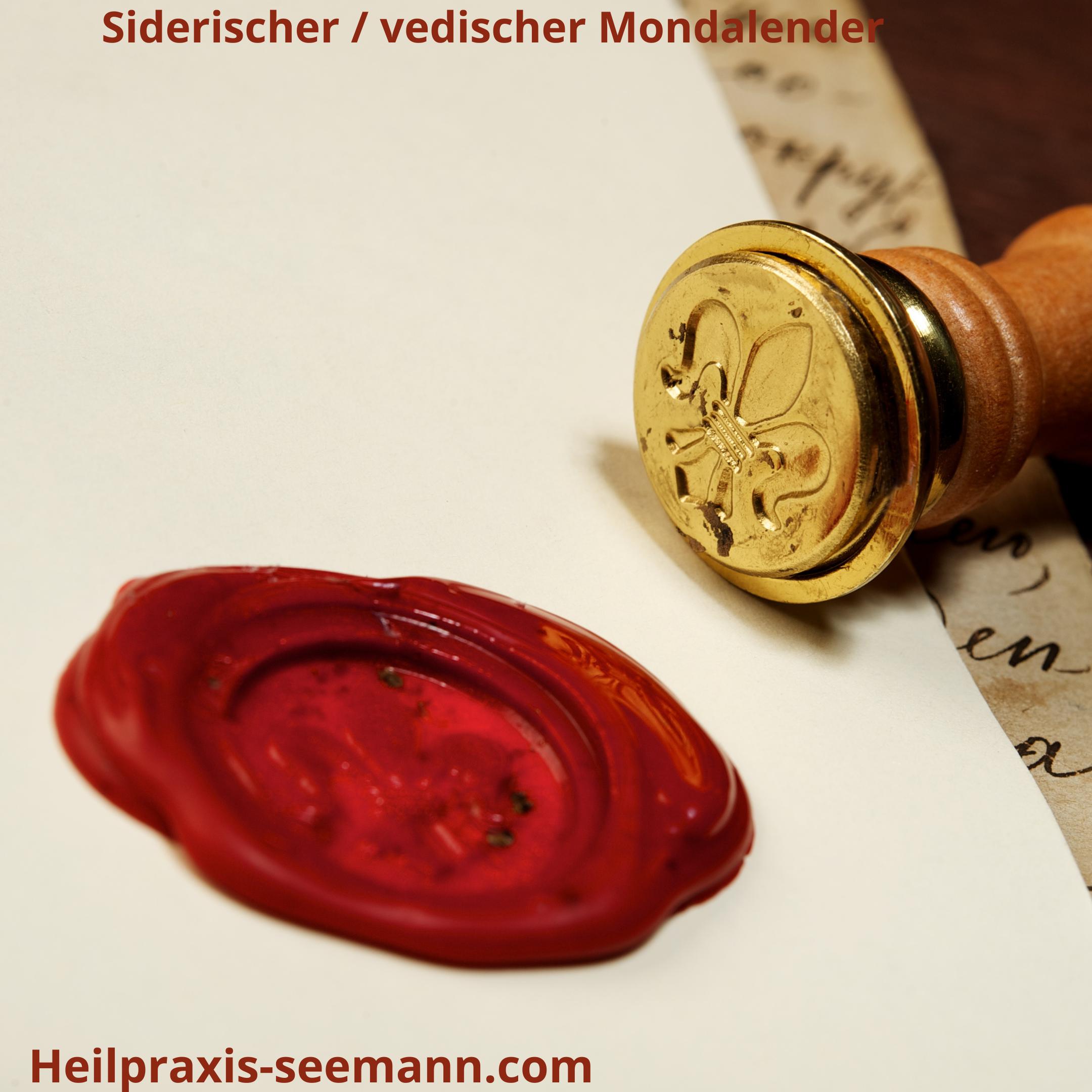 siderischer _ vedischer Mondkalender