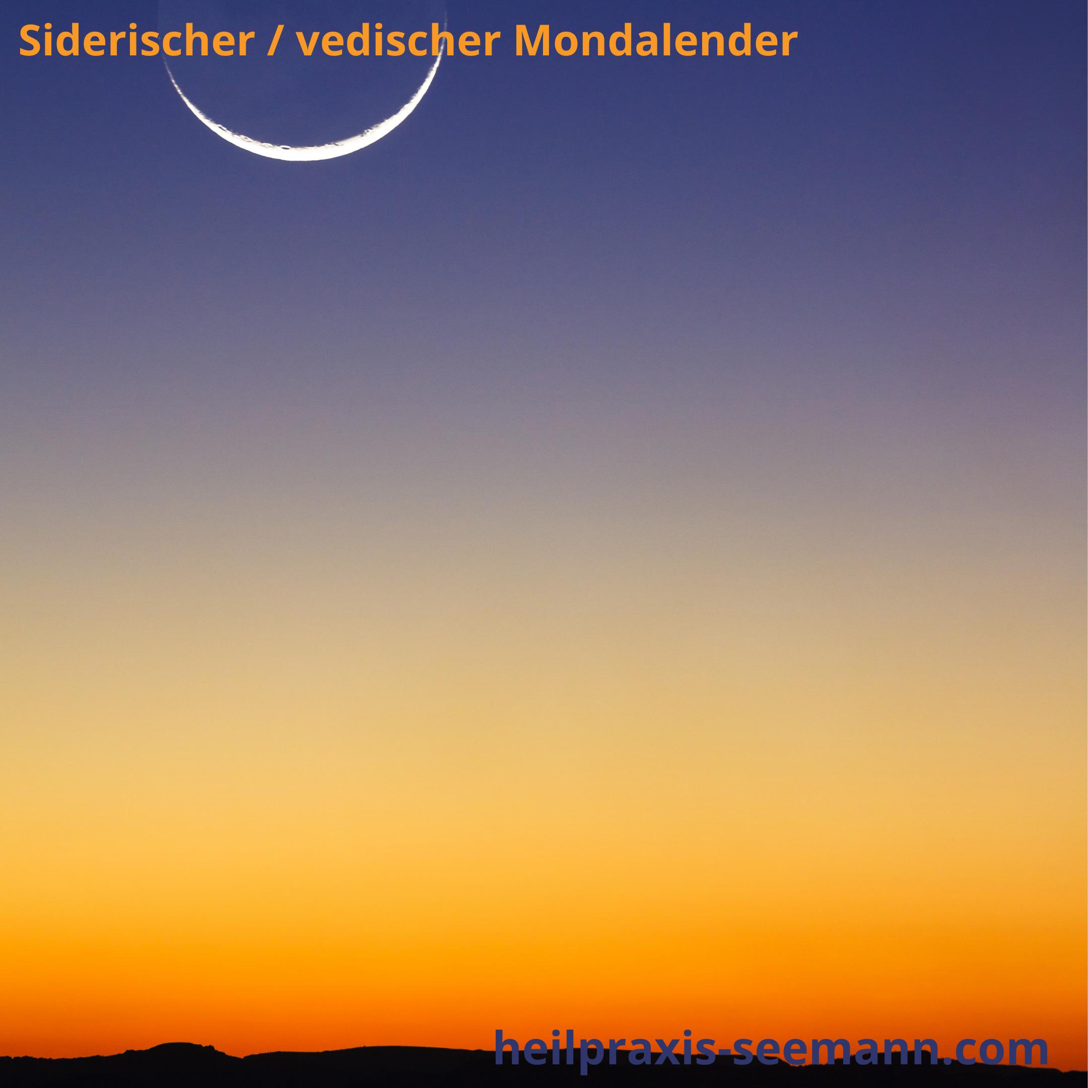 siderischer Mondkalender Neumond Markab