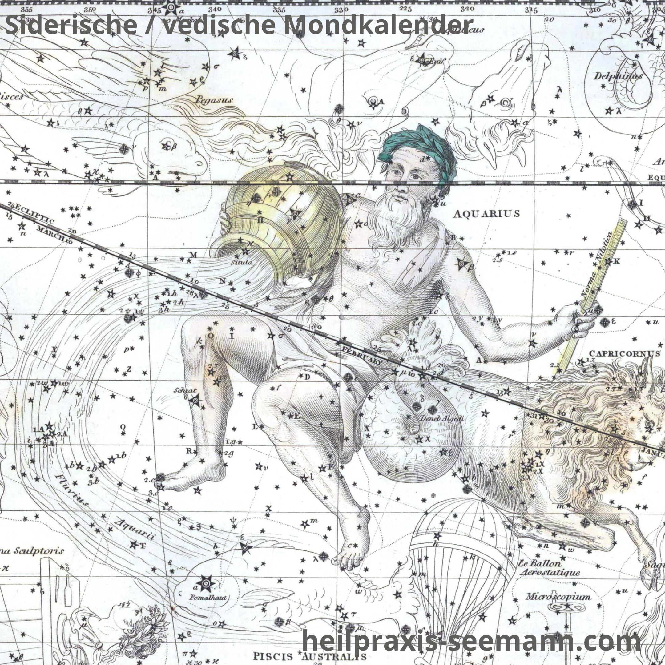 Siderische Mondkalender Wassermann