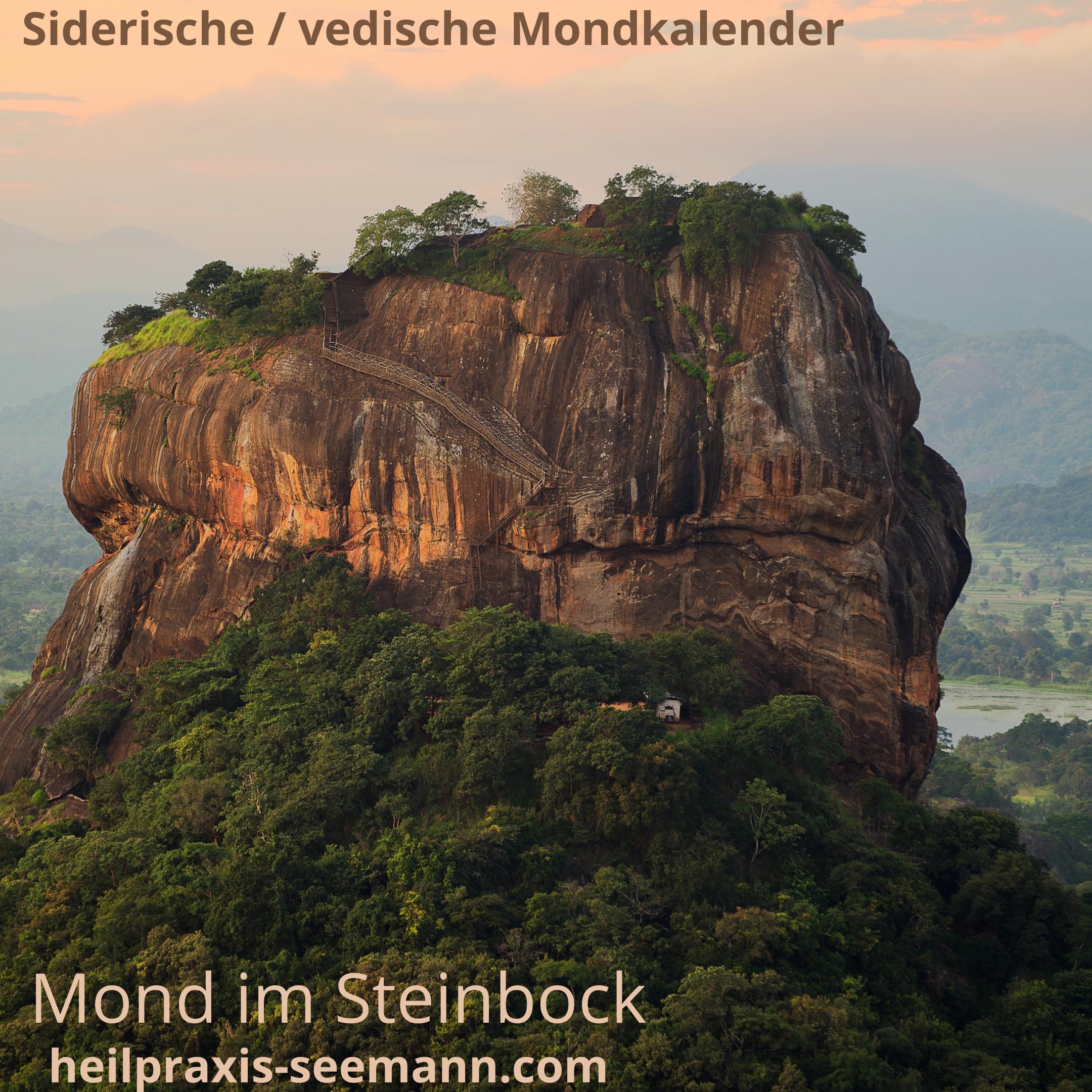 Siderische Mondkalender Mond im Steinbock
