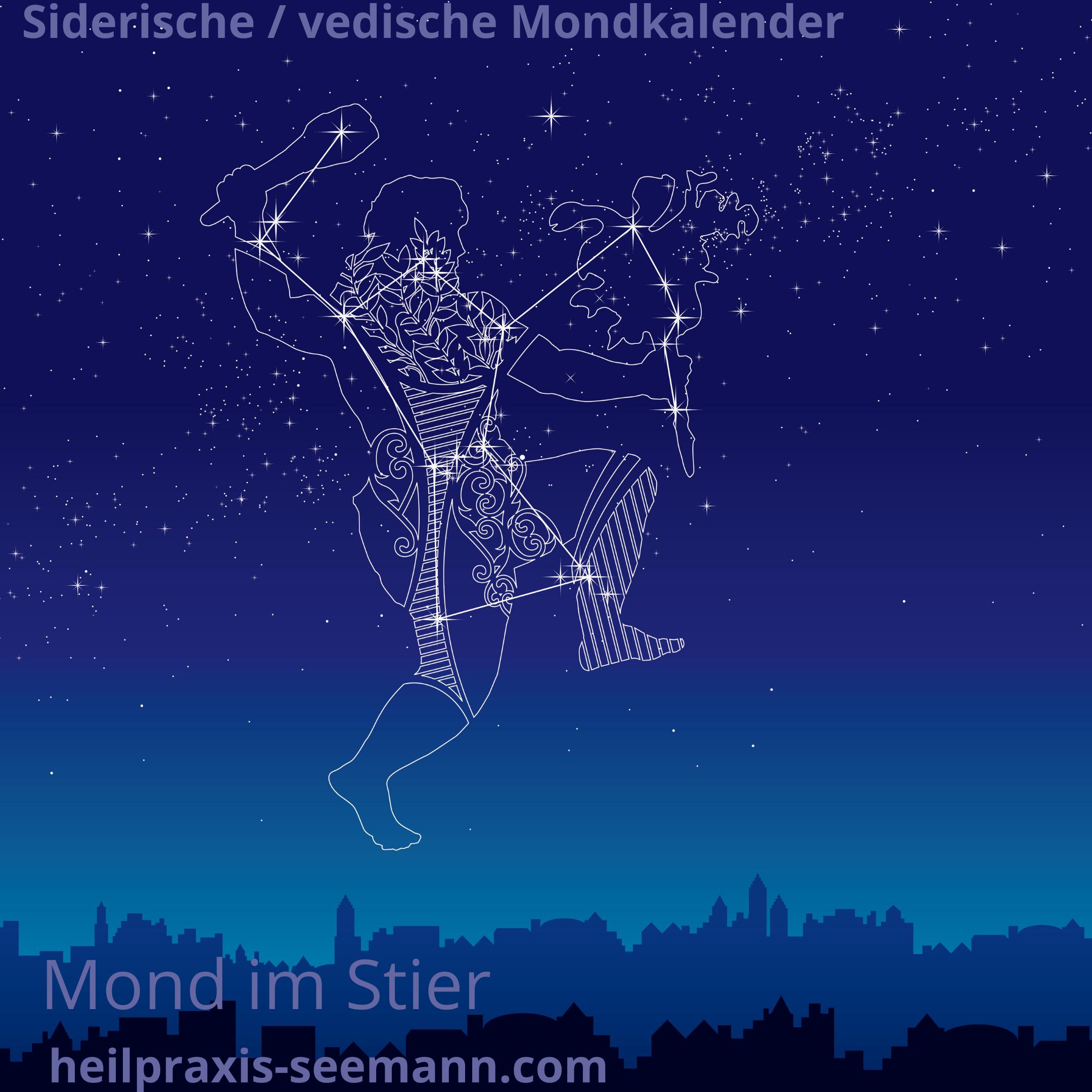Siderische Mondkalender Mond im Stier