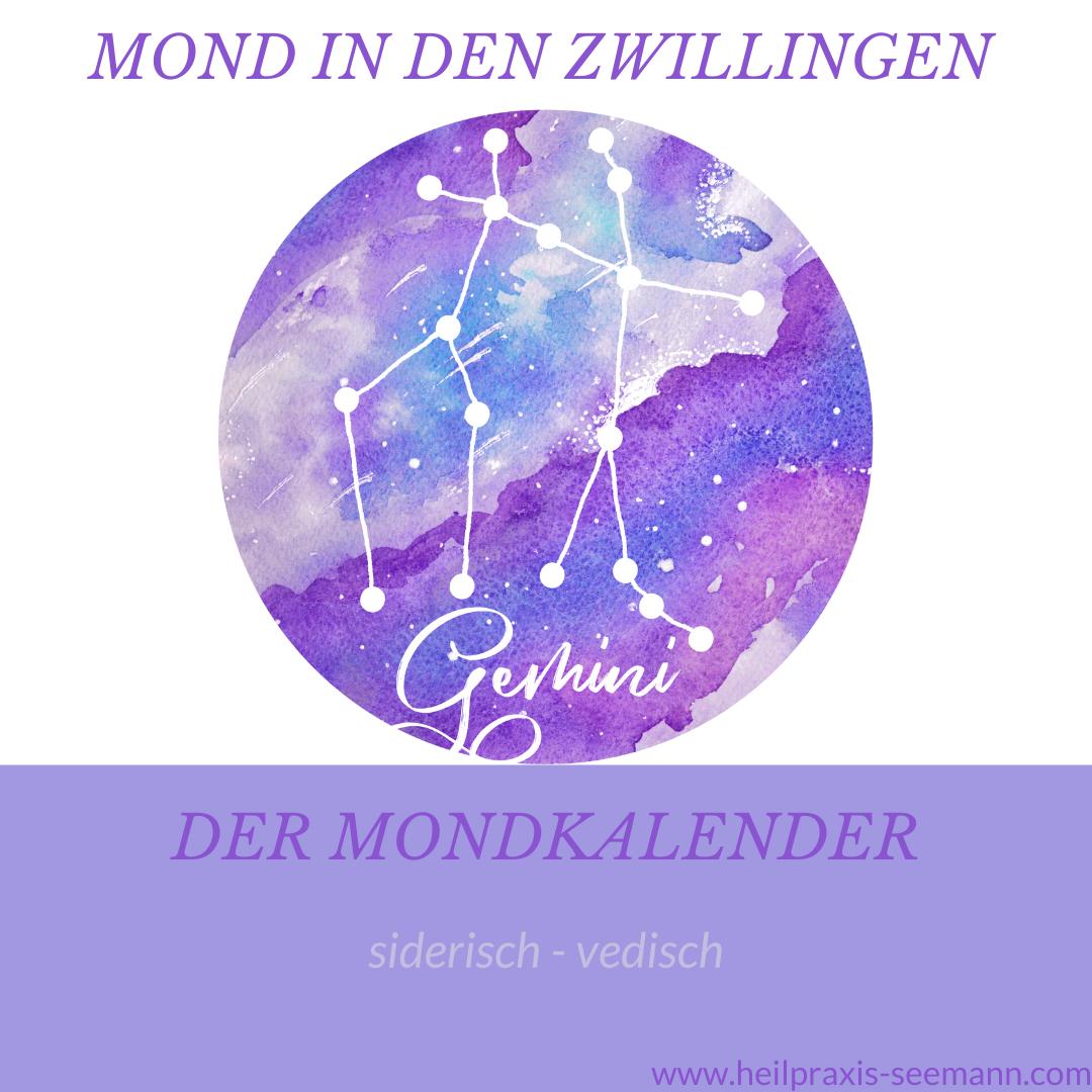 Der Mondkalender siderisch vedisch Zwillinge (3)