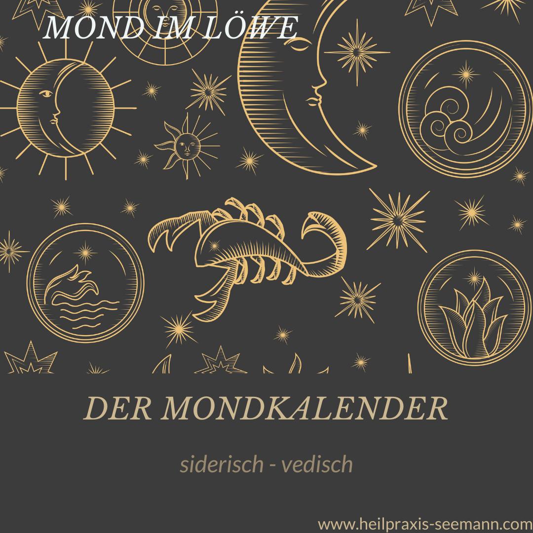 Der Mondkalender siderisch vedisch Löwe (2)